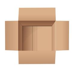 empty top view cardboard