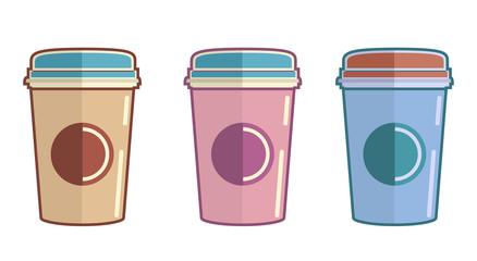 Flat Coffe Cups
