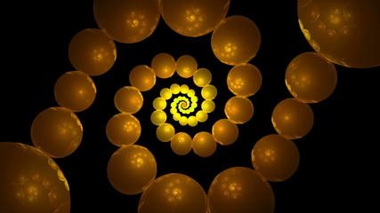Orange And Yellow Bubbles Vortex