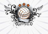 Fototapety Volleyball Emblem