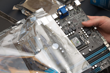 Unpacking the motherboard