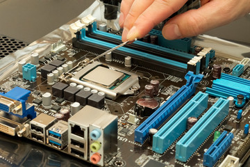 Installing central processor unit into motherboard