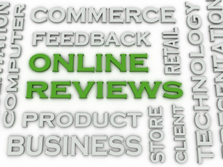 3d image Online reviews  issues concept word cloud background