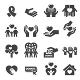 Charity Silhouette icons - 81843149