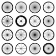 bicycle wheels vector illustration - 81843563