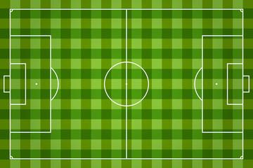 soccer field vector illustration