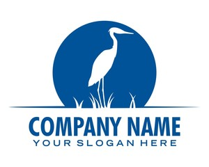stork bird logo image vector