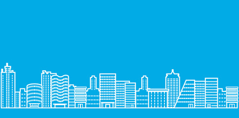 Cityscape line Illustration