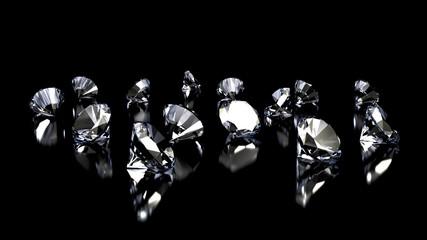 Diamonds on black background