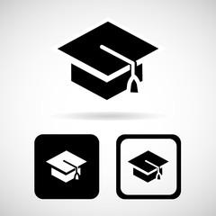 Graduation cap, Vector illustration