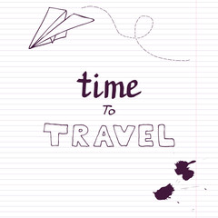travel card with paper plane