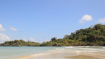 Beauty Island and beach on daylight