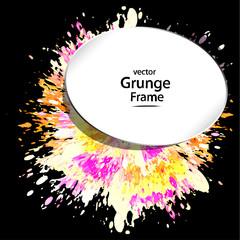 grunge frame, retro