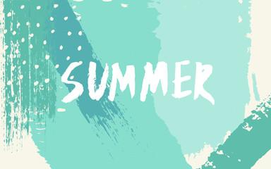 Abstract Brush Strokes Summer Design