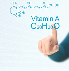Chemical formula of Vitamin A