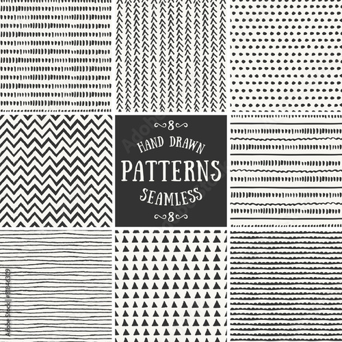 Abstract Seamless Patterns Collection - 81846309