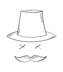 gentleman with moustache