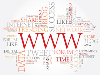 WWW word cloud, business concept