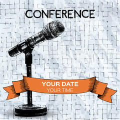 Conference template illustration with space for your text