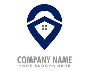 blue marker logo image vector