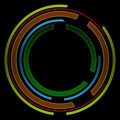 Tech Circle Black