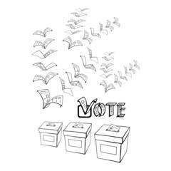 voting or vote