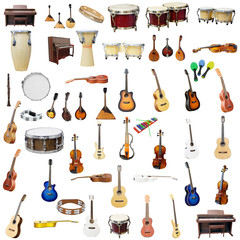 The image of music instruments