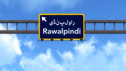 Rawalpindi Pakistan Highway Road Sign