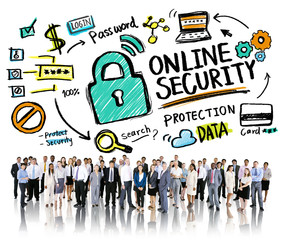 Online Security Protection Internet Safety Business People