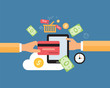 business online payment and shopping online concept - 81850514