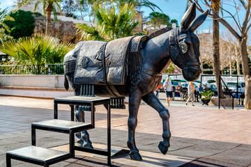 Donkey Statue. Symbol of Mijas village. Spain