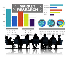 Market Research Business Percentage Research Marketing Concept