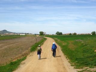 Pilger auf dem Jakobsweg
