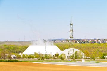 Kühlturm mit Reaktor - AKW Neckarwestheim