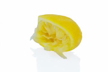 ausgepresste Zitrone