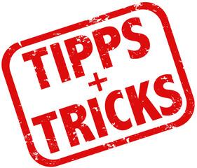 Tipps und Tricks Stempel rot