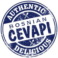 bosnian cevapi stamp