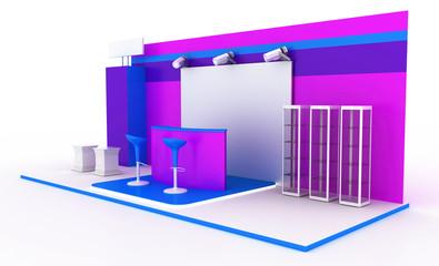 Modern exhibition kiosk