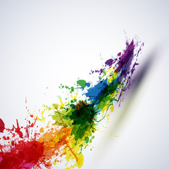 ink paint abstract background, easy editable