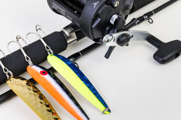 Closeup for Salmon fishing set