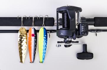 Equipment ready for Salmon fishing