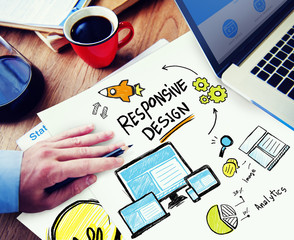 Responsive Design Internet Web Online Office Working Concept