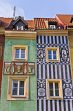Tenement houses in Poznan, Poland