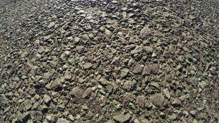Road surface with stones