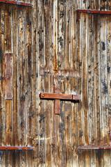 old, antique barn door, 17th century
