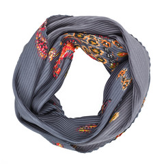 Silk scarf. Gray silk scarf isolated on white background