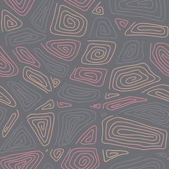 Abstract Hand-drawn Ornamental Pattern Stylized Seamless texture