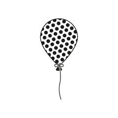 The balloon icon. Holiday symbol. Flat
