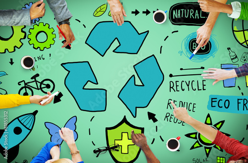 Recycle Reduce Reuse Eco Friendly Natural Saving Concept - 81855312