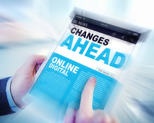 Digital Online News Changes Ahead Future Working Concept